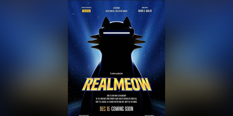 """Realme brings a gift from another planet for its fans, a unique trendsetting designer toy """"realmeow"""""""