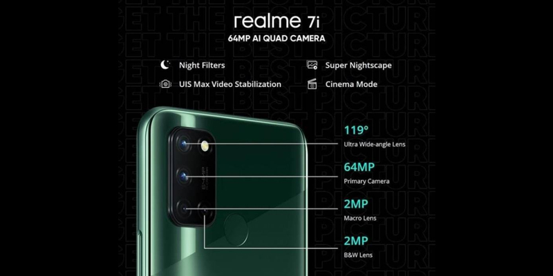 realme 7i with 64 MP quad camera is now available at price of PKR 36,999