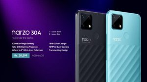 realme launches the gaming beast Narzo 30A with 6000mAh Battery in Pakistan