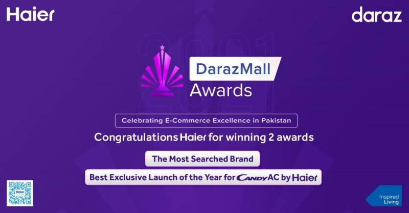 Haier awarded two awards by Daraz